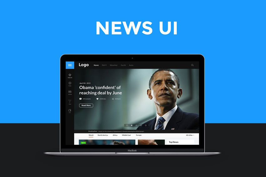 News website UI