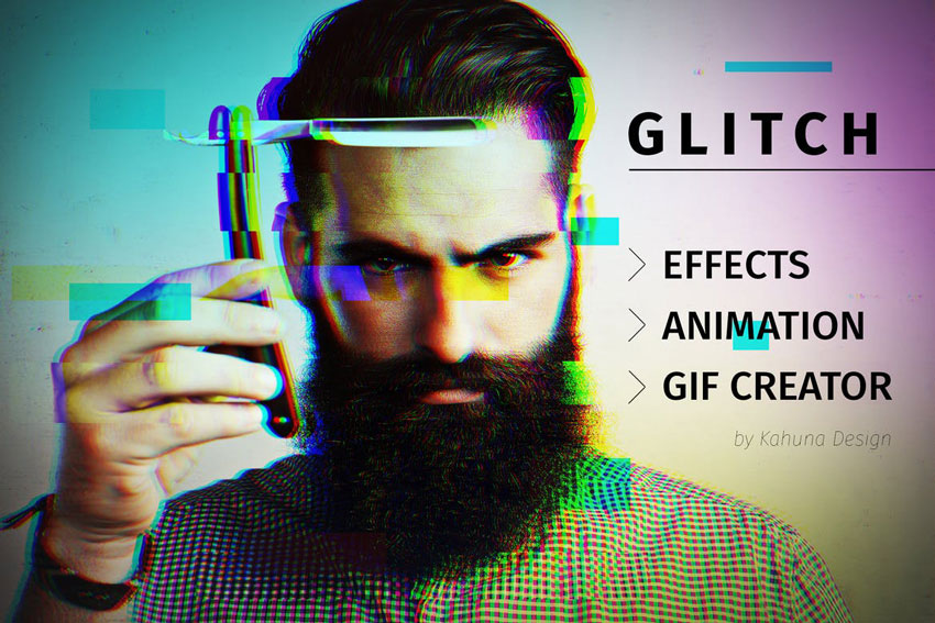 Create GIF With Effects Glitch