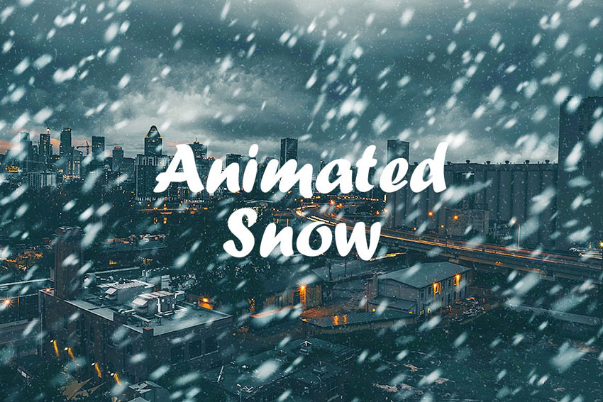 Snow Animated Action Photoshop