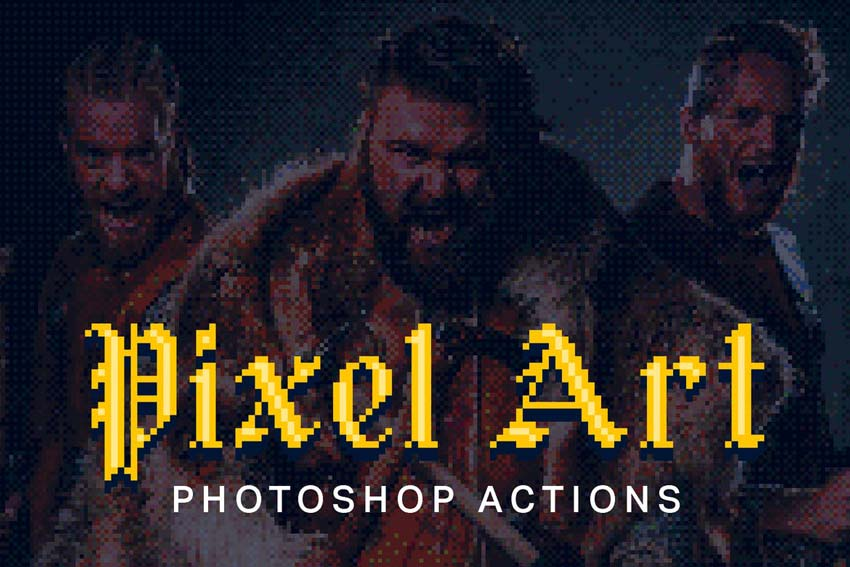 21 Pixel Art Photoshop Actions