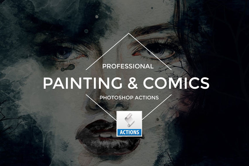 Painting  Comics Photoshop Actions