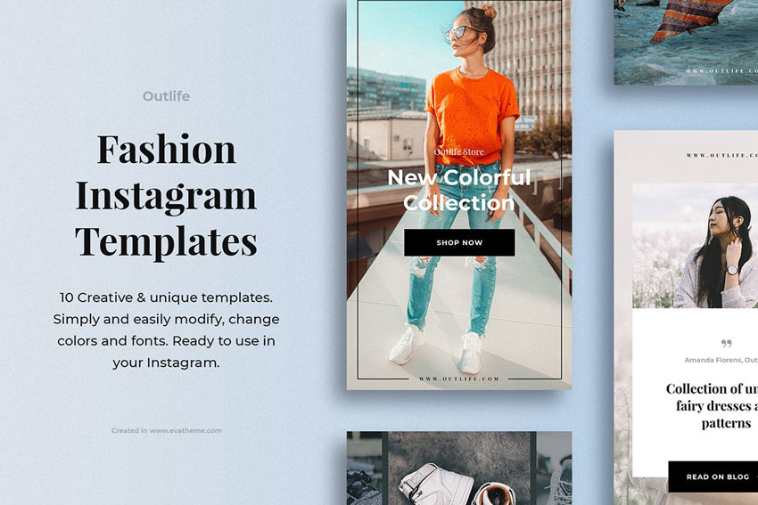 Outlife Fashion Instagram Templates