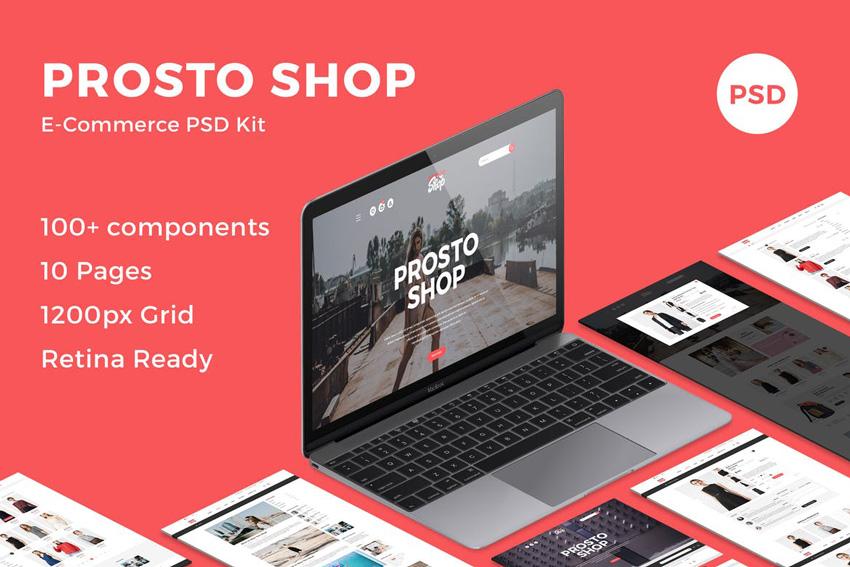 Prosto Shop - E-Commerce PSD Kit