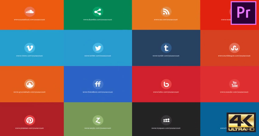 Social Media Pack Toolkit  MOGRT for Premiere Pro