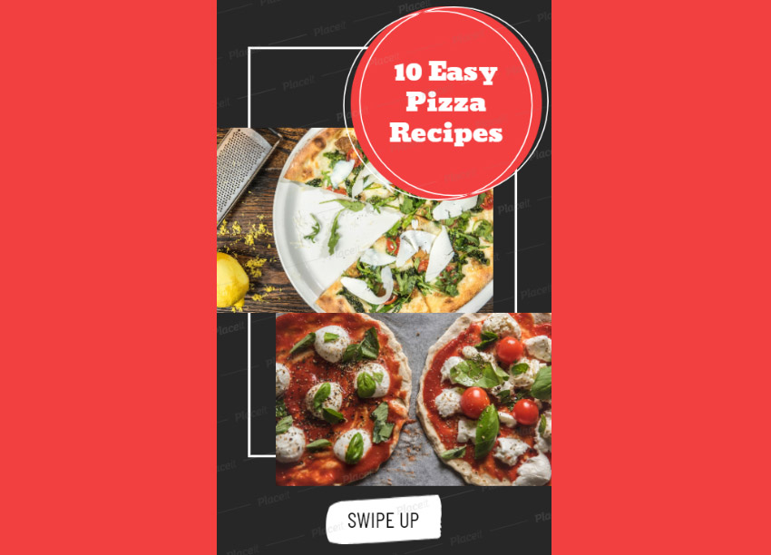 Instagram Story Maker for Pizza Recipes