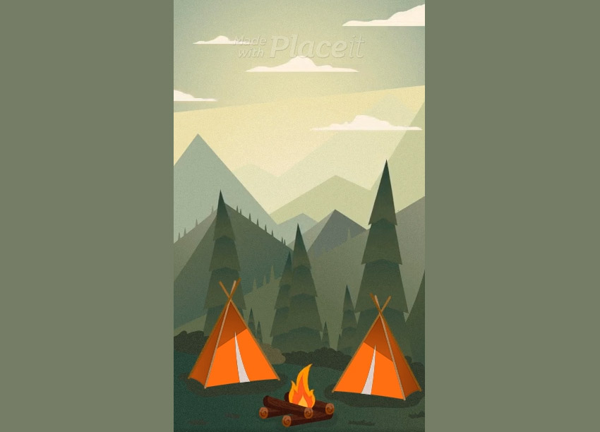 Text Animation Maker for Instagram Stories Featuring Camping Graphics