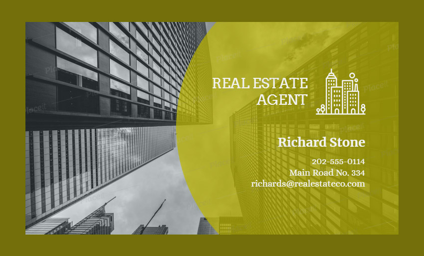 Real Estate Agent Business Card Maker