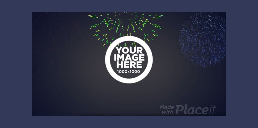 Celebration YouTube Intro Maker with Firework Animations
