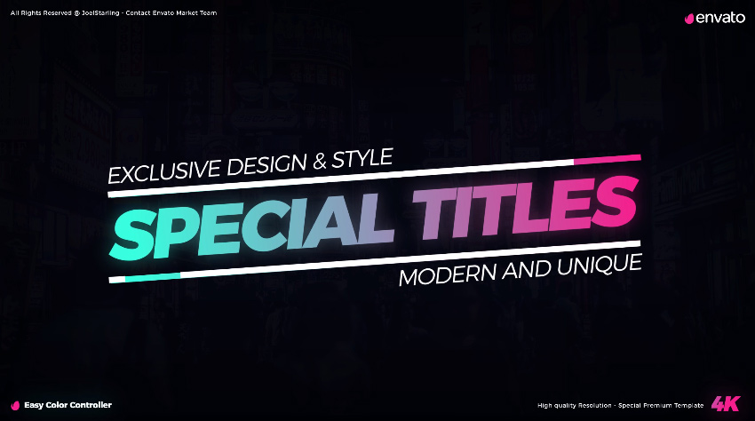 10 Top Video Templates With Neon Design for Premiere Pro