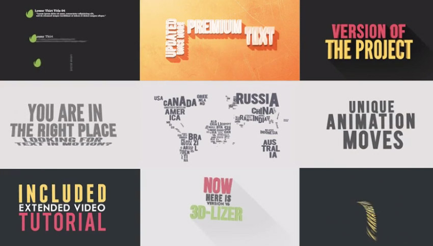 Kinetic Typography Pack