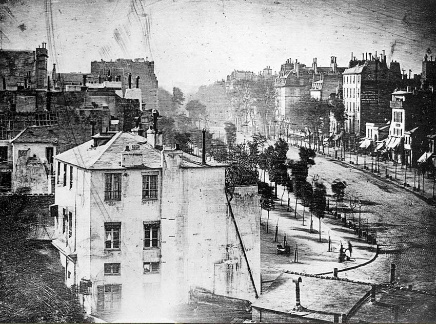 Boulevard du Temple is by Louis Daguerre