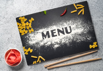 Restaurant menu preview