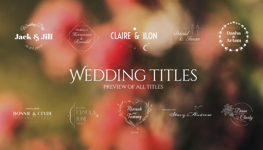 50 Wedding Titles  Essential Graphics  Mogrt
