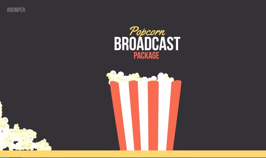 Popcorn Broadcast Package Essential Graphics  Mogrt