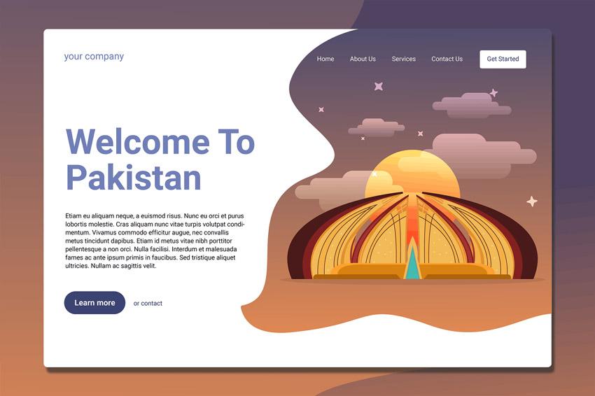 Pakistan Landmark - Landing Page