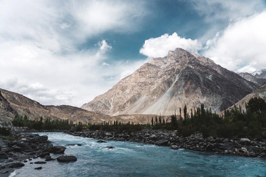 Beautiful Himalayan mountains in Pakistan
