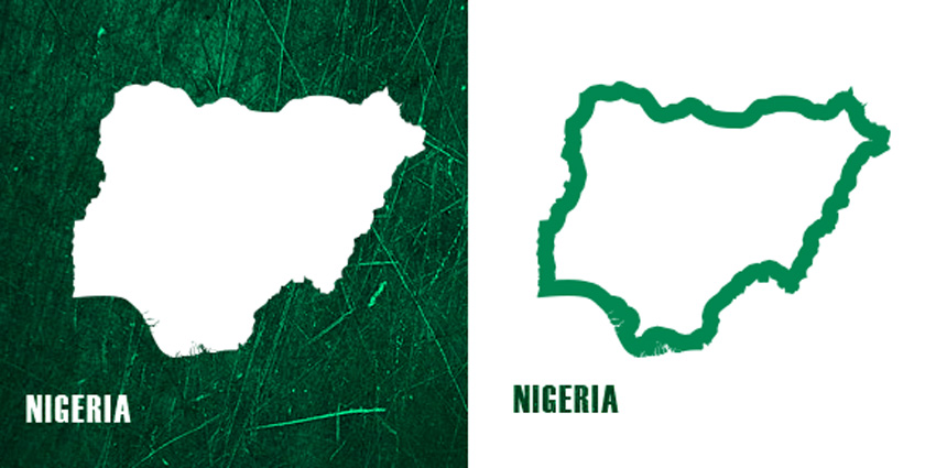 38 Custom Shapes for the Nigerian States  Photoshop Shapes