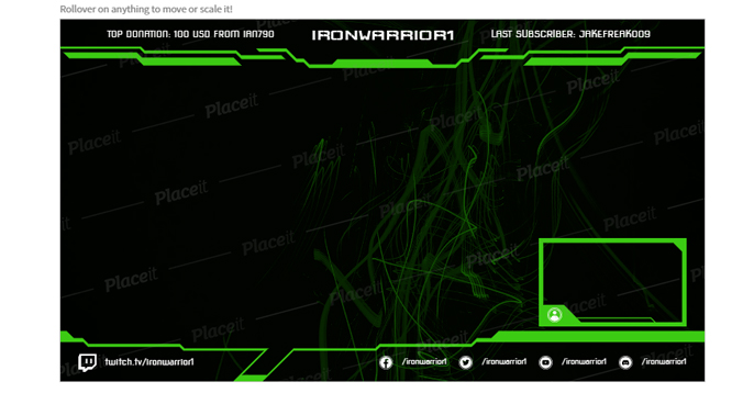 overlay frame from placeit