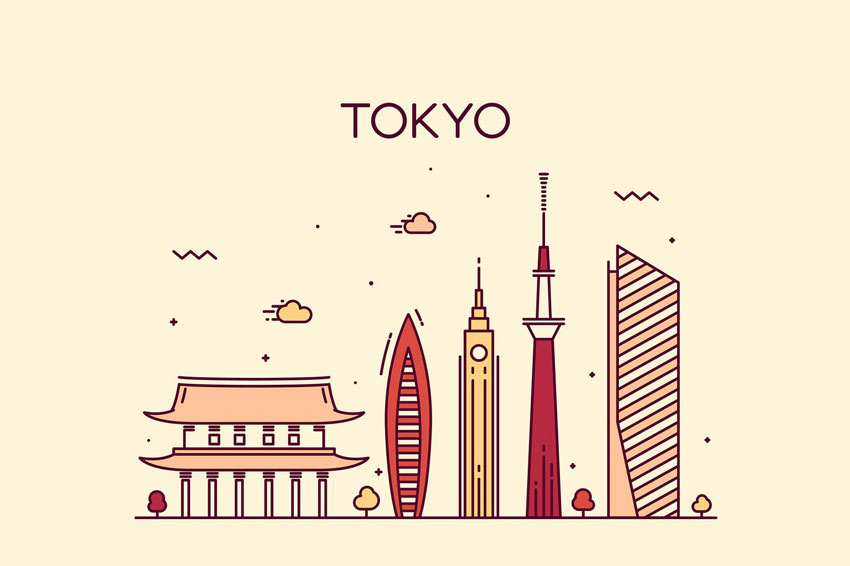 Tokyo skyline Japan