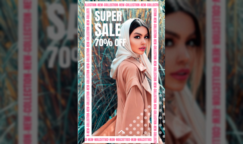 Instagram Story Video Generator for a Fashion Super Sale