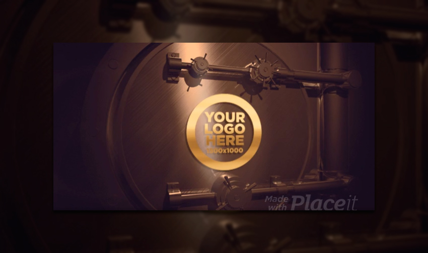 Cool Intro Maker for a Logo Reveal Featuring an Animated Bank Vault Door