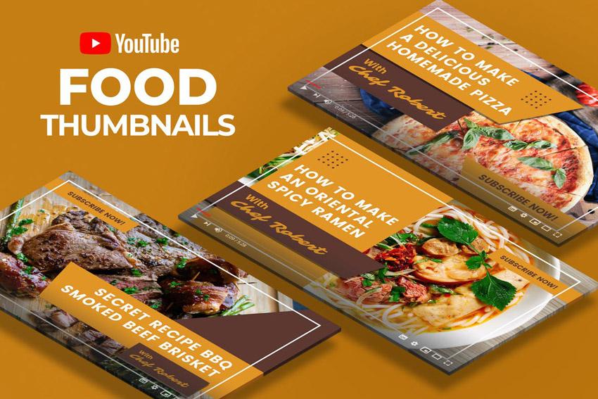 Youtube Thumbnail - Food Videos