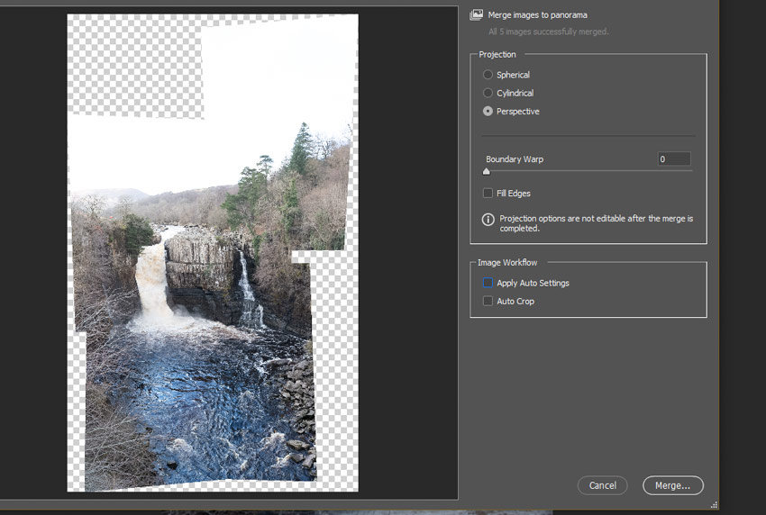 Adobe Camera Raw options