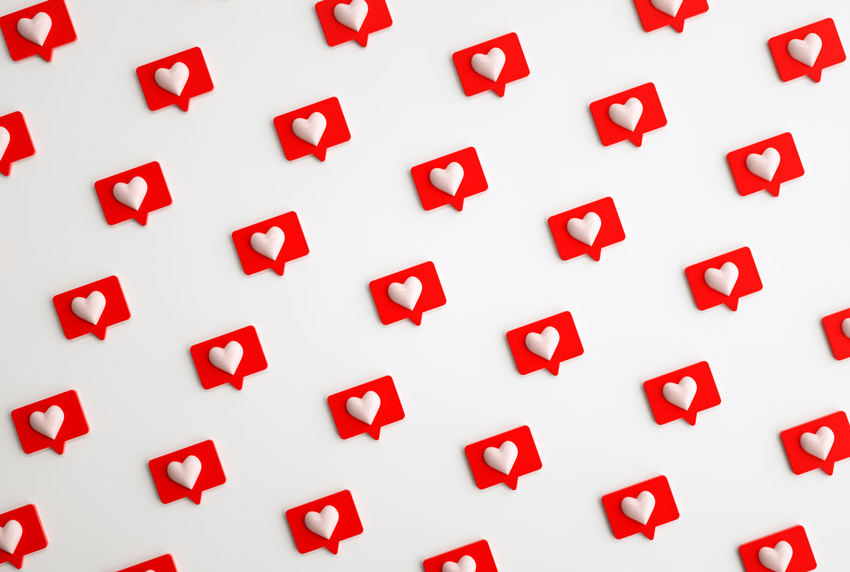 3D social media notifications - available from Envato Elements