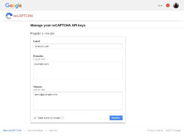 Google reCAPTCHA Form