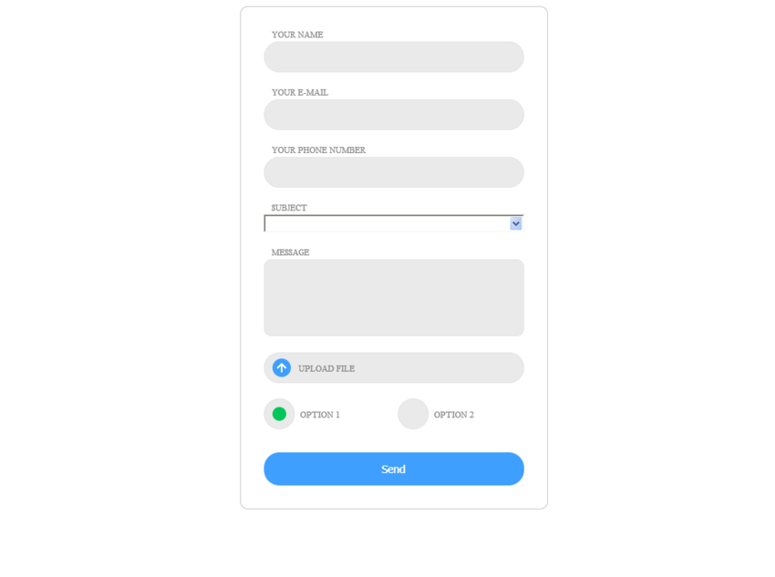 Contact Us Form Demo