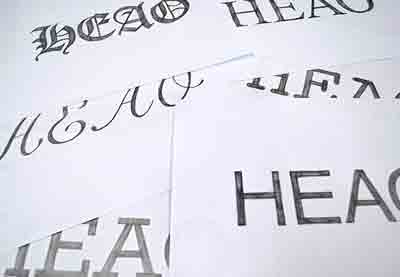 Hand Lettering Understanding Types Of Type