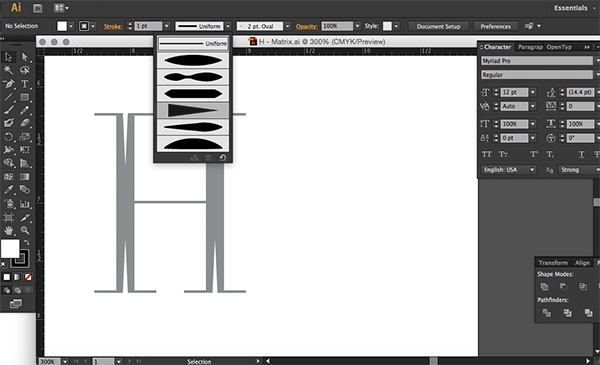 StylizingLettering-Cutout-Profile-Selector