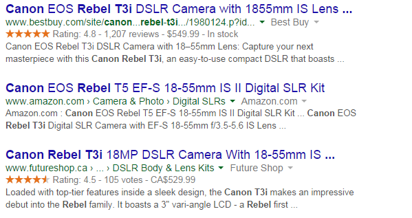 Search results for the term canon rebel t3i