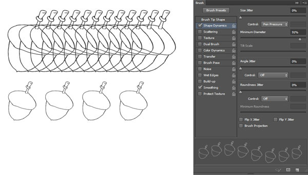 Acorn adjust brush settings 2