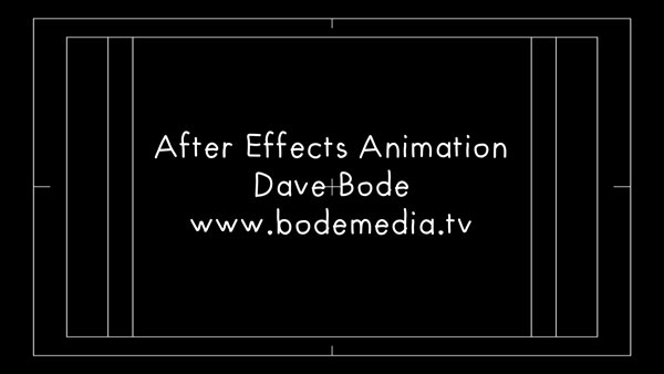 After Effects Credit