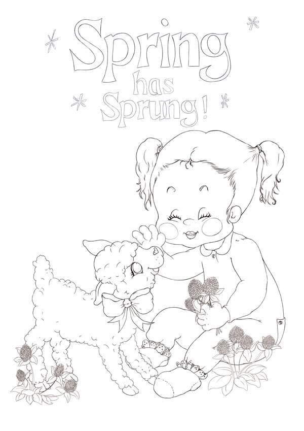 How To Make Line Art Effect In Photoshop : Duplicate a vintage drawing style to create spring