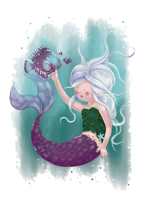 Finished Mermaid Illustration