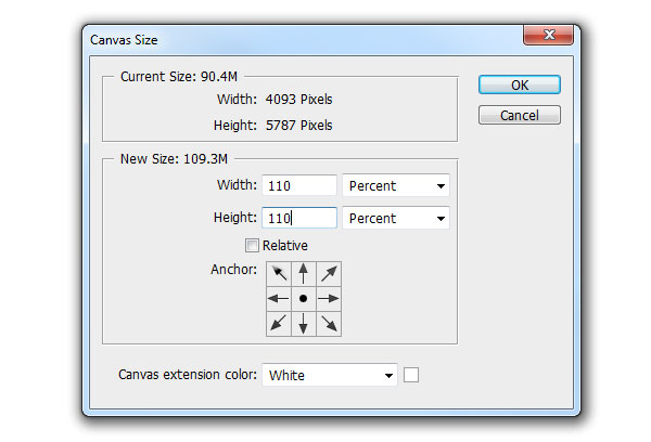 Canvas Size Dialogue