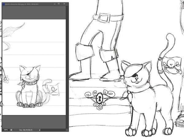 Cat Design in Pose