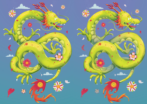 Chinese Dragon - Before and After