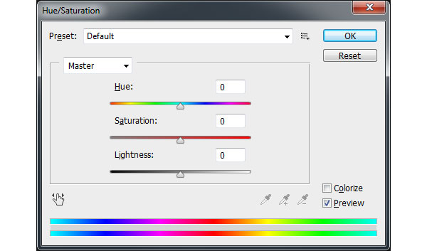 Hue Saturation Slider
