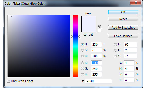 Outer Glow Colour - Pale Blue