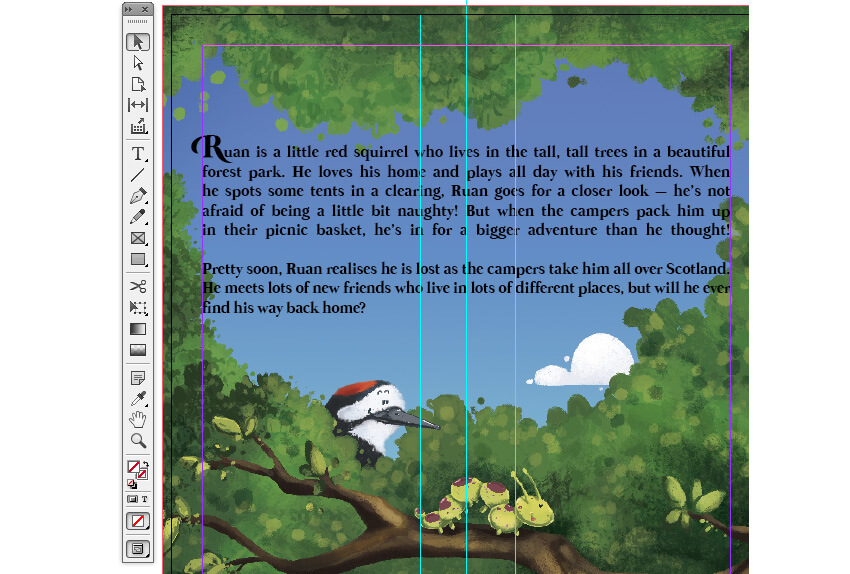 How to design a childrens book cover and internal pages changing the blurb colour fandeluxe Images