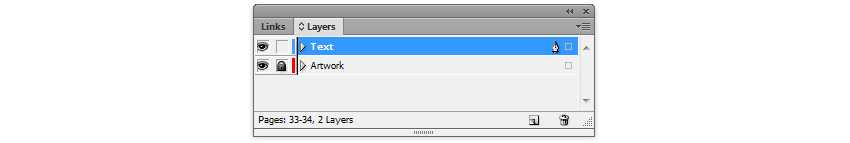 InDesign Layers Panel