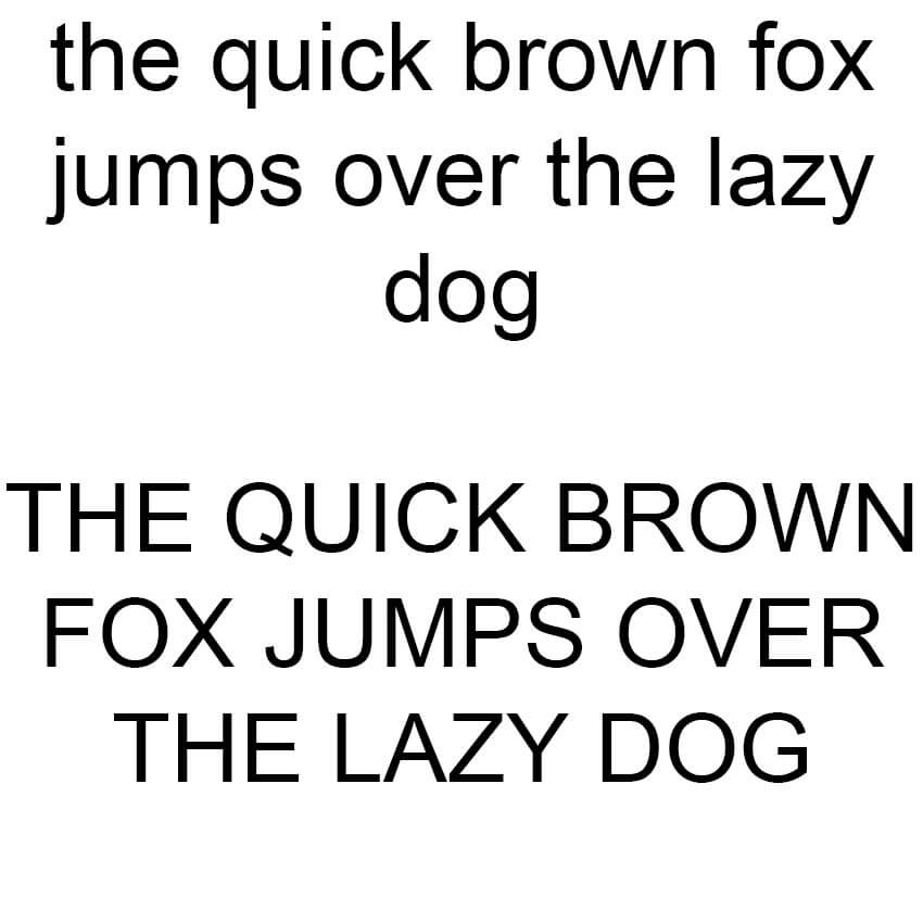 The Quick Brown Fox - Arial Sample