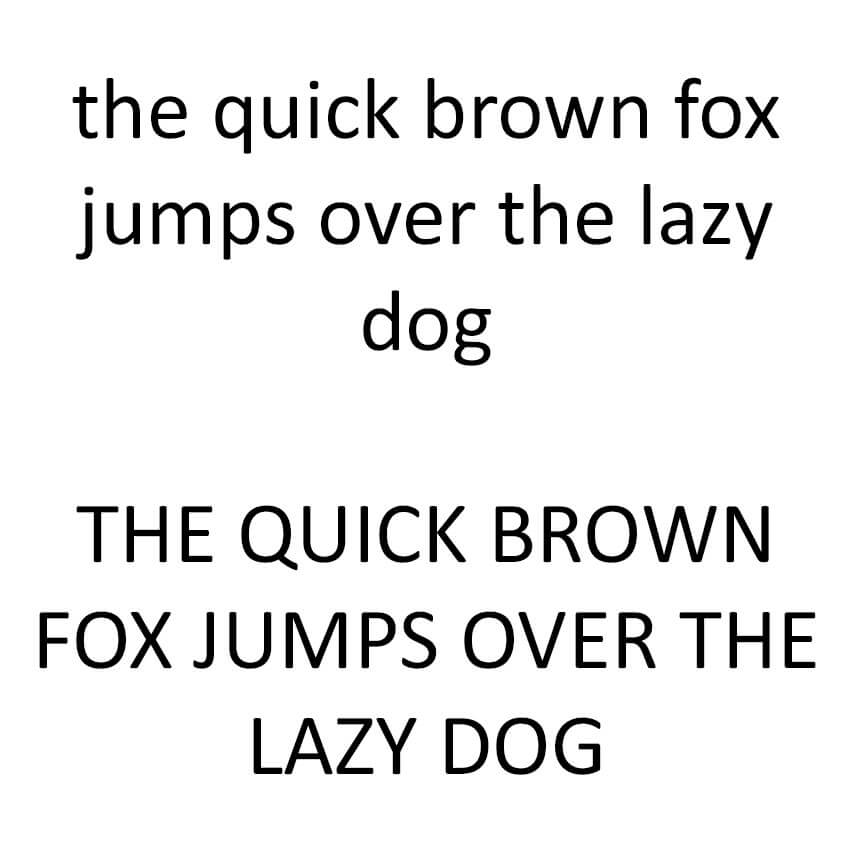 The Quick Brown Fox - Calibri Sample