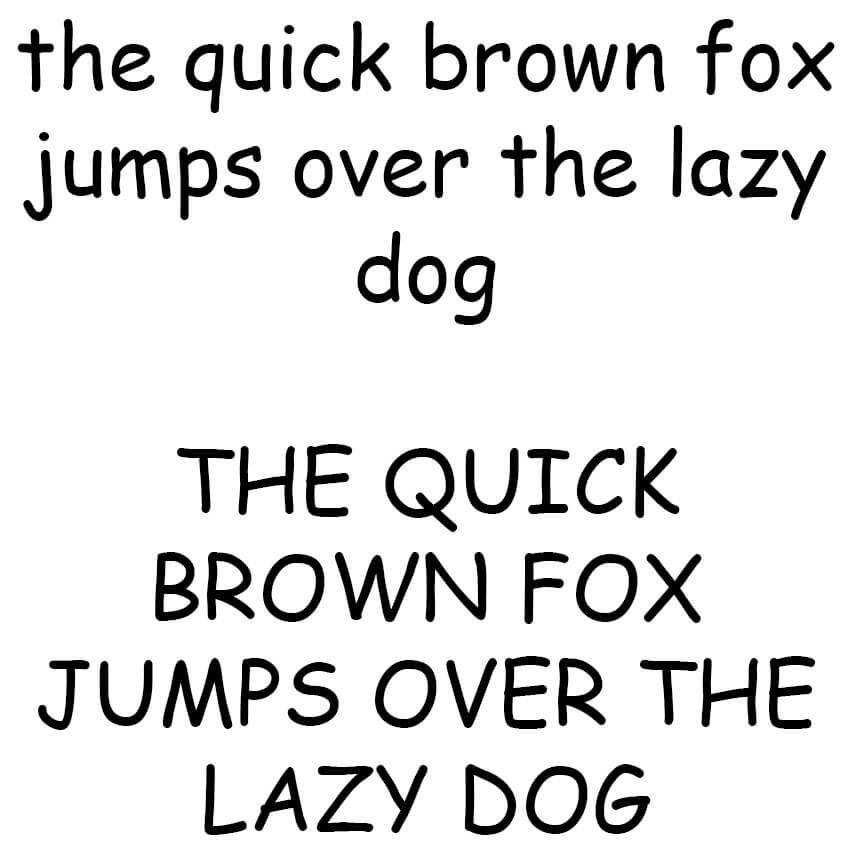 The Quick Brown Fox - Comic Sans Sample