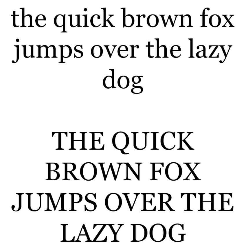 The Quick Brown Fox - Georgia Sample