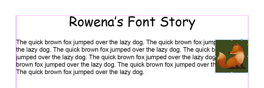 InDesign CC Book Layout - Text Wrap to Image