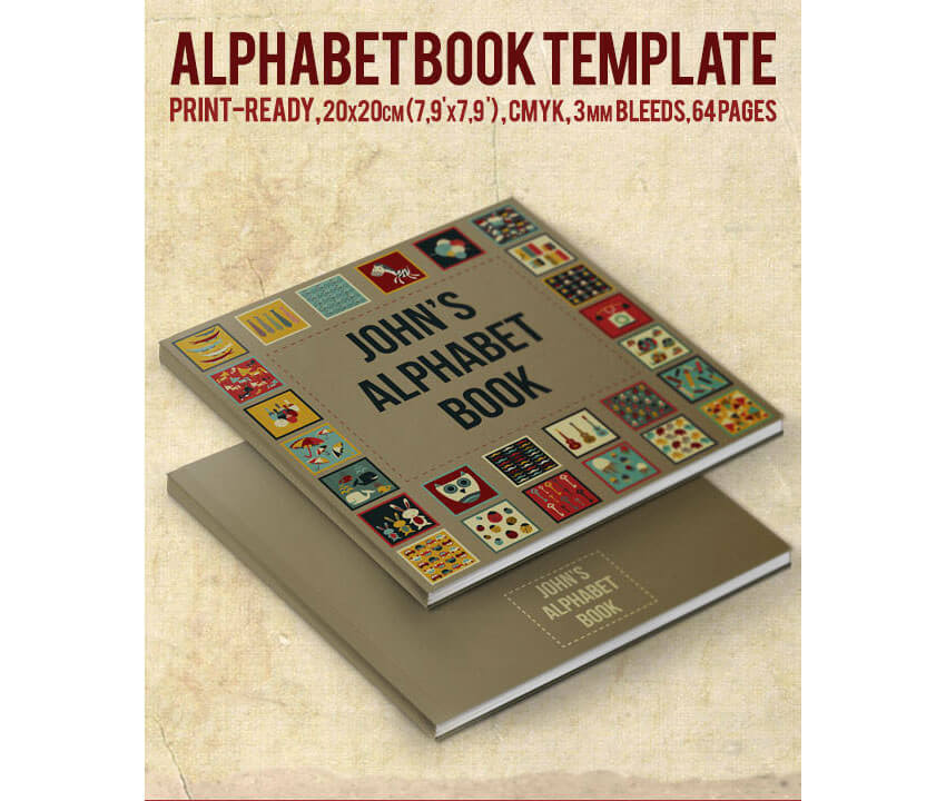 Alphabet Book Template by crew55design - Book Layout Template